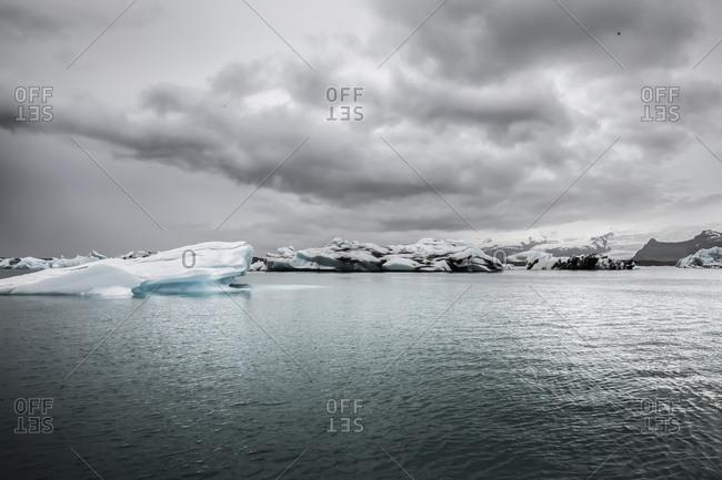 Iceberg in a glacial lake in Iceland