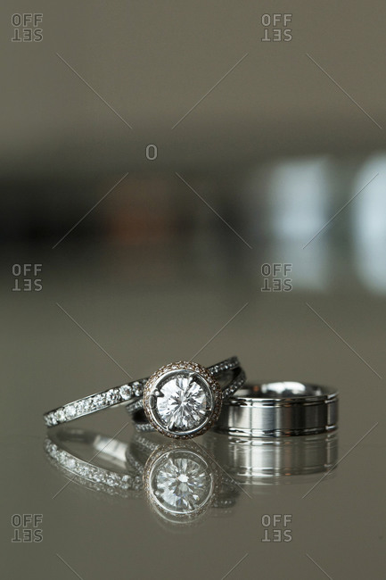 A man and woman's wedding rings