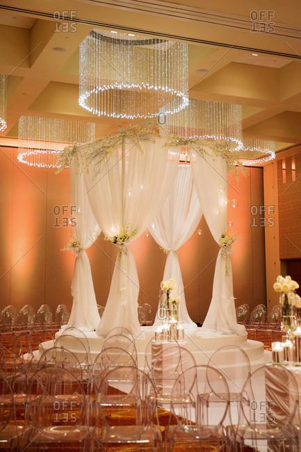 A huppah set up for a wedding
