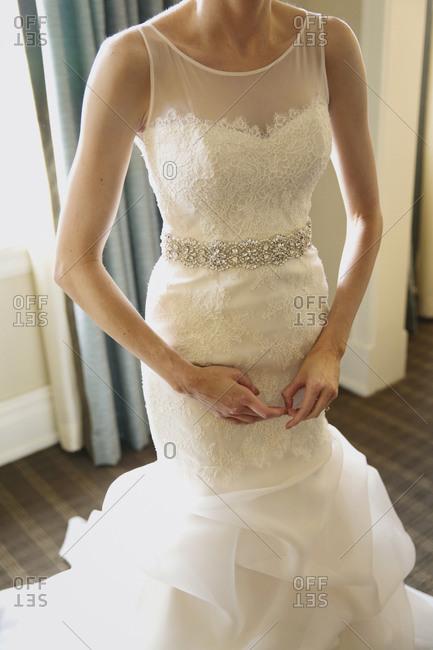 A nervous bride gets ready
