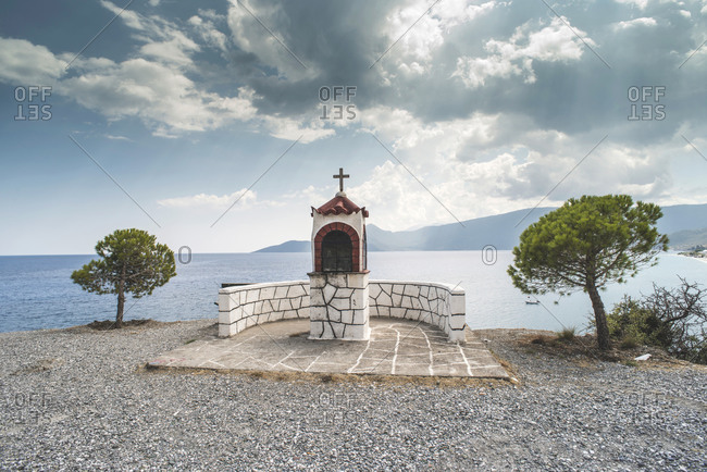 Altar in front of the sea