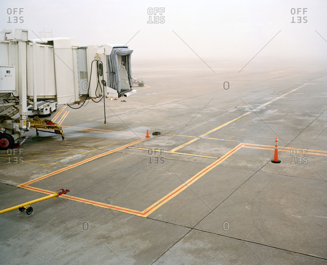 Empty runway at an airport