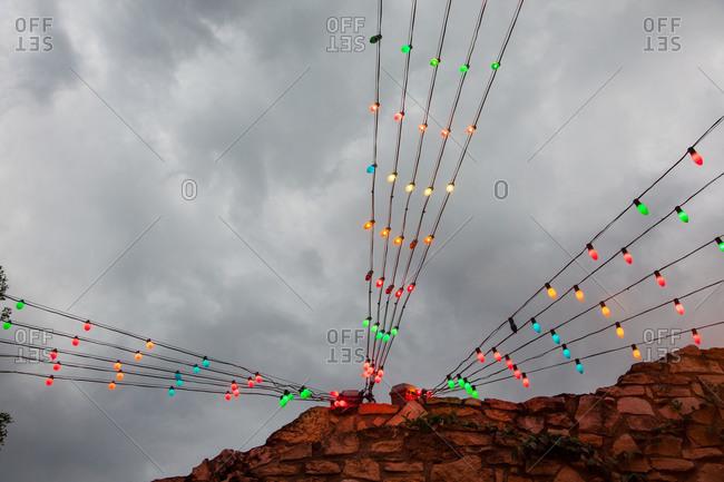 Illuminated colorful string lights