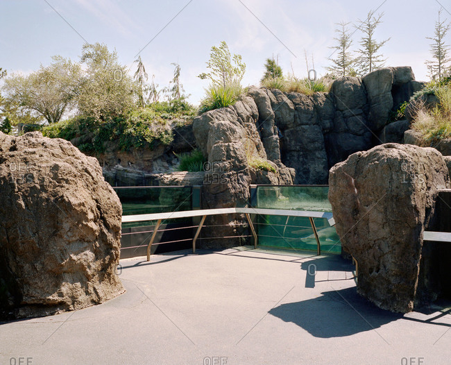 Rocks at an aquarium