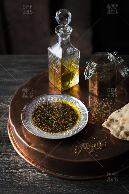 A spice mixture with olive oil