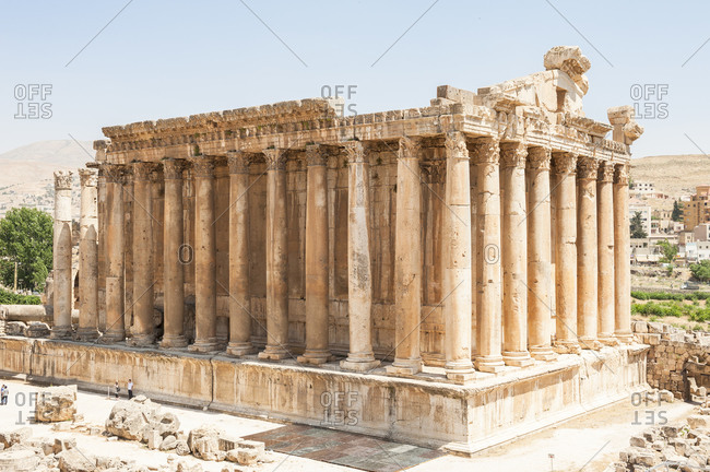 An ancient building in Baalbek, Lebanon