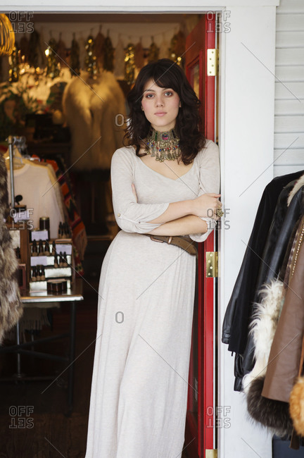 Stylish young woman in her boutique