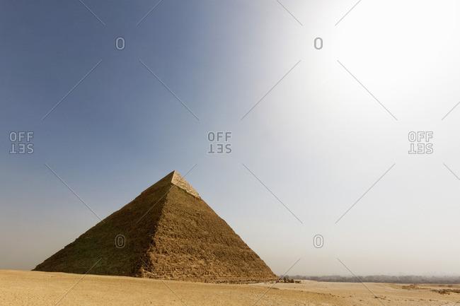The Pyramid of Khafre in Giza, Egypt