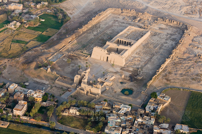 The Mortuary Temple of Ramesses III near Luxor, Egypt