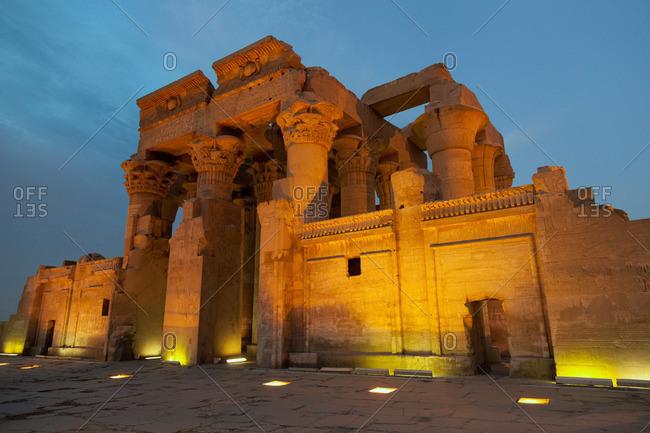 The ancient Temple of Kom Ombo near Aswan, Egypt