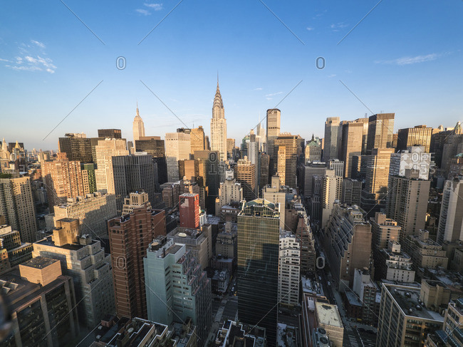 Manhattan with the Chrysler Building and the Empire State Building, New York City
