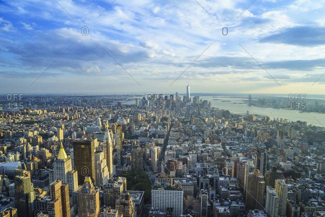 View of skyscrapers in Manhattan, New York City