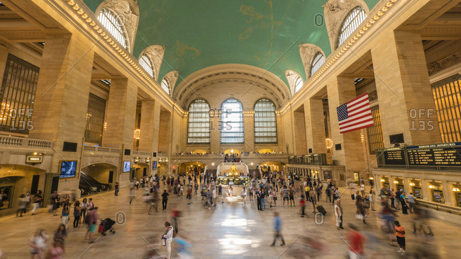 The main concourse of Grand Central Station, New York City