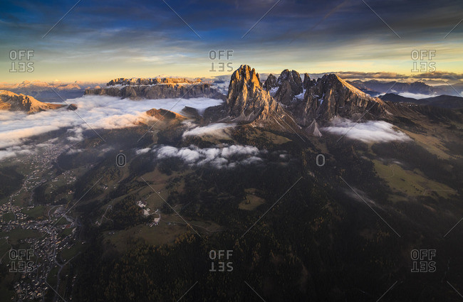 The Rolle Group and the Gardena Valley in South Tyrol, Italy