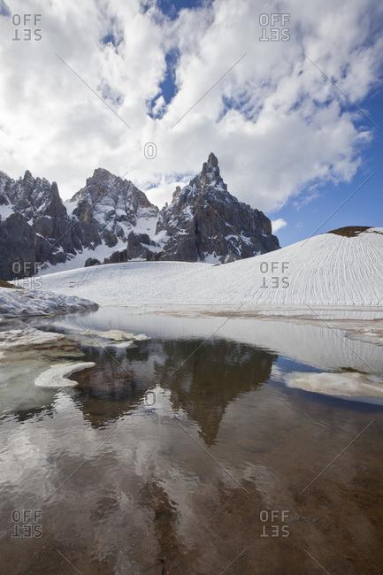 View of the Pale di San Martino in Trentino, Italy