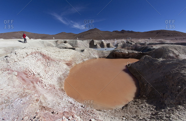 Geothermal field in Sur Lipez Province in Bolivia