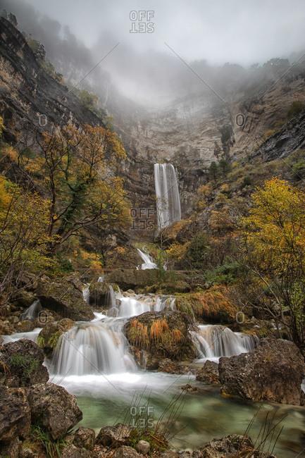Waterfalls at the source of Mundo river