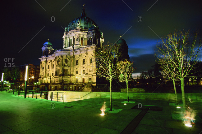 Berlin, Germany - November 28, 2004: The Berlin Cathedral at night, Germany