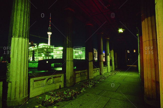 Berlin, Germany - November 29, 2004: Berlin TV Tower from the Museum Island, Berlin