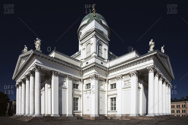 Helsink, Finland - August 9, 2007: The Helsinki Cathedral