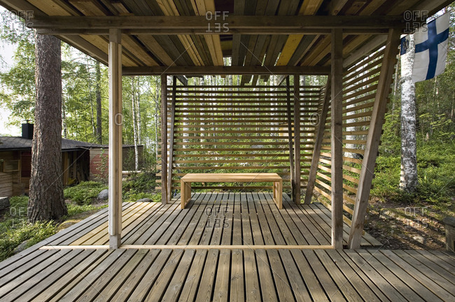 Wooden pavilion in Finland