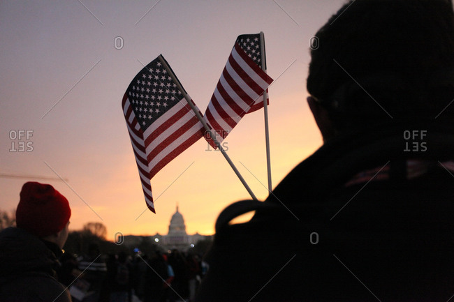 Crowds gathered in Washington D.C. for presidential inauguration