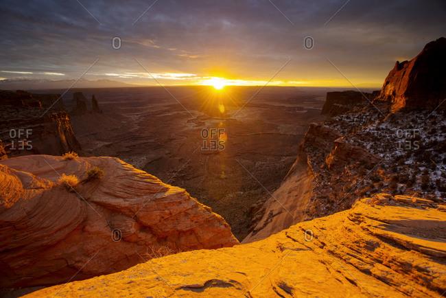 Sunset at Canyonlands National Park in Utah