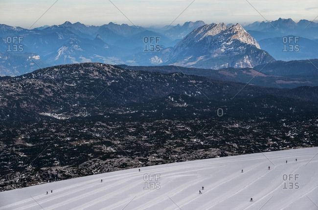 Cross-country skiers in Austria