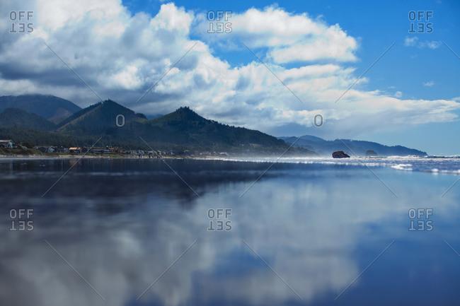 Oregon coastline at Cannon Beach