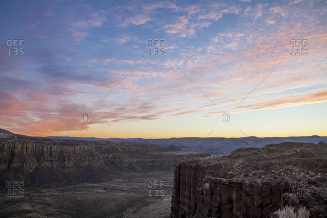 A sunset at Frenchmans Coulee, Washington