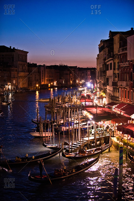 Sunset on the Grand Canal in Venice, Italy
