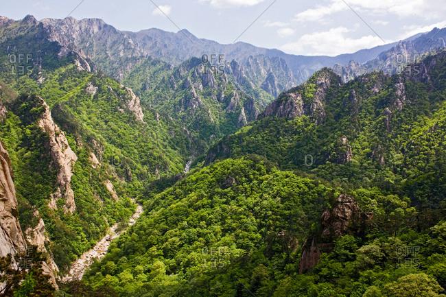 Mountain panorama at Seoraksan National Park, South Korea