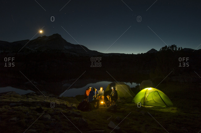 People camping in the Mountains