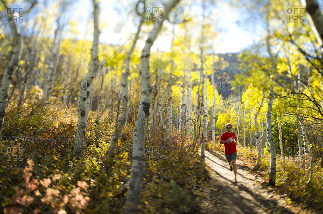 Man running in Utah
