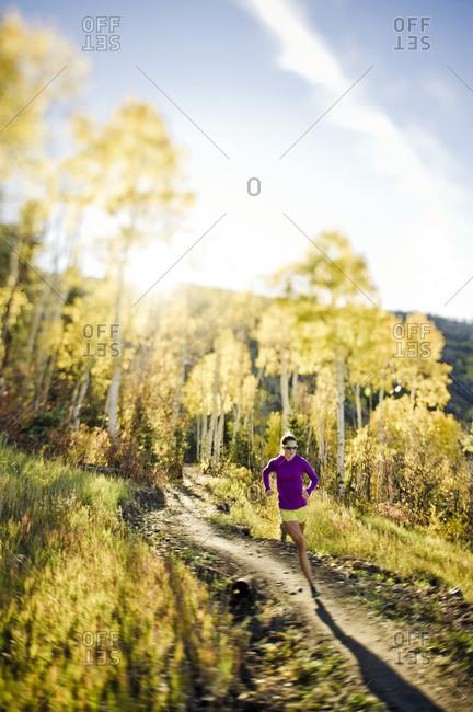 Woman running in Utah