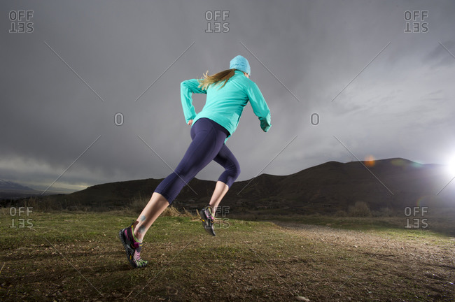 Woman running in Utah