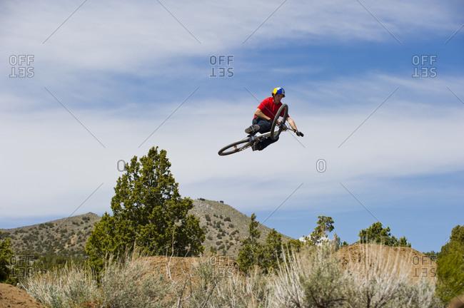 Mountain biker, Washoe County, Nevada