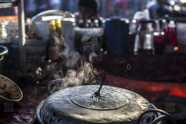 Steam rising from a cooking pot, Bali