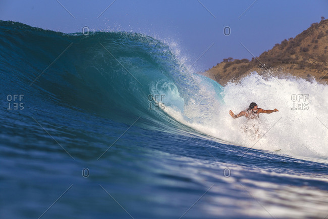 Surfing in West Sumbawa, Indonesia