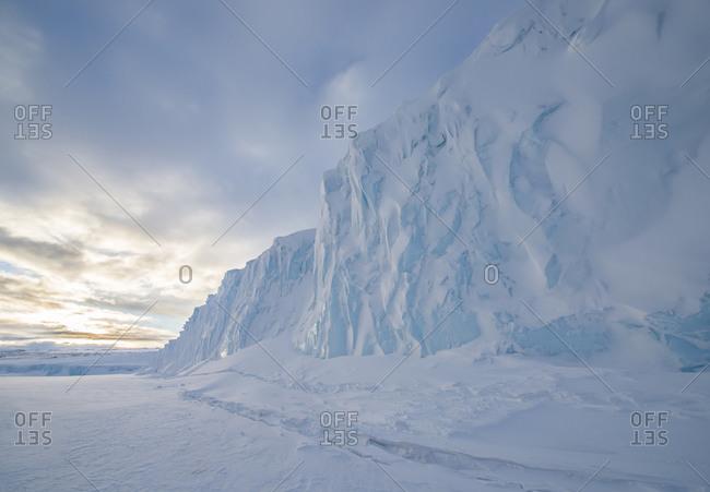 The Barne Glacier on Ross Island in the McMurdo Sound region of the Ross Sea, Antarctica