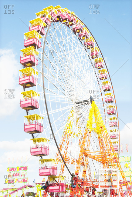 Jerez, Spain - May 12, 2009: Huge colorful Ferris wheel at a festival in Spain