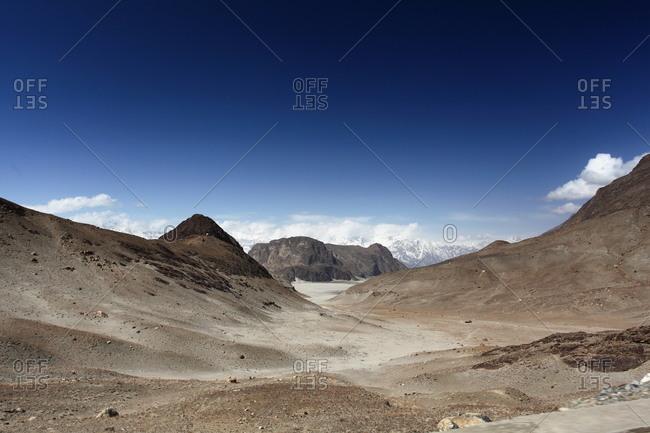 Dry desert dunes in Pakistan