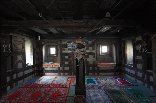 March 29, 2011 - Khaplu, Pakistan: The interior of a modest Pakistani mosque