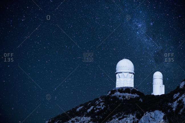 Space observatory on remote hilltop, Tucson, Arizona, USA