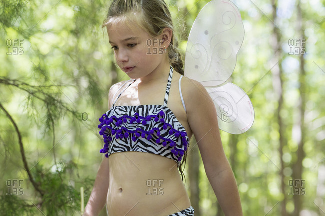 Portrait of a girl in butterfly costume