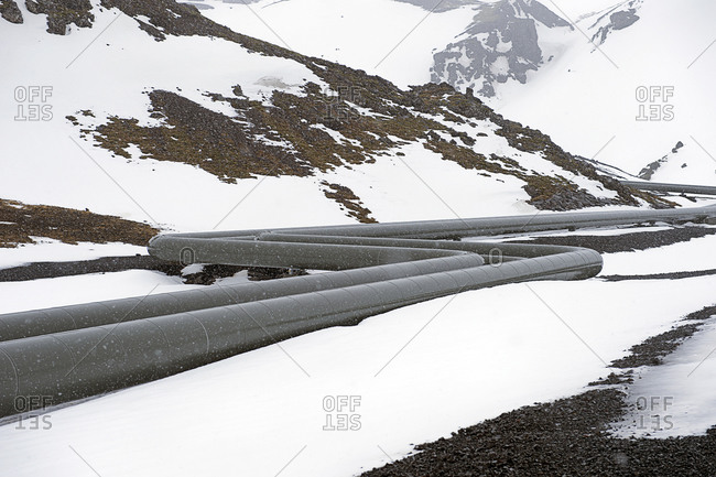 Power plant pipes in Iceland