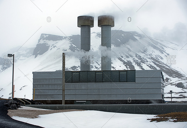 Power plant in rural Iceland