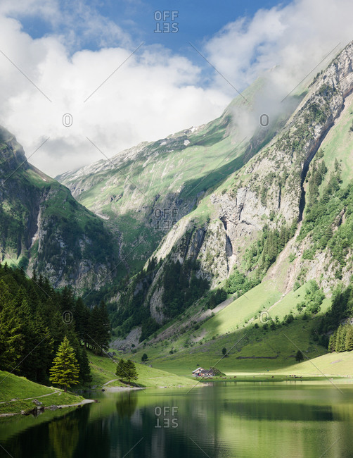 Seealpsee in Appenzell, Switzerland