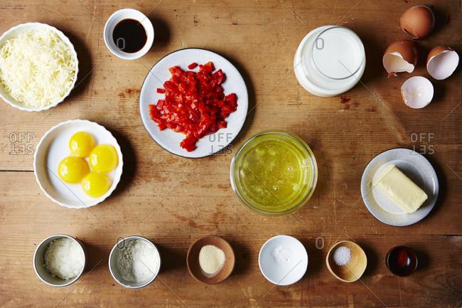 Raw pimento cheese souffl_ ingredients