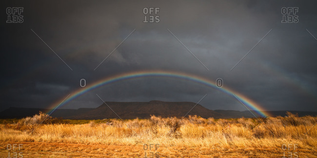 Rainbow at Big Bend country of West Texas